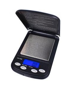 Die Taschenwaage von On Balance wiegt Kräuter oder Konzentrate bis zu 500 Gramm mit einer Genauigkeit von 0,1 Gramm ab